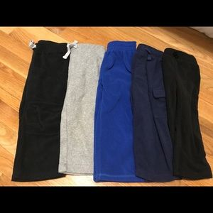 Lot of 5 pairs of fleece pants size 2t